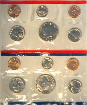 1988 Mint Set - All Original 10 Coin U.S. Mint Uncirculated Set