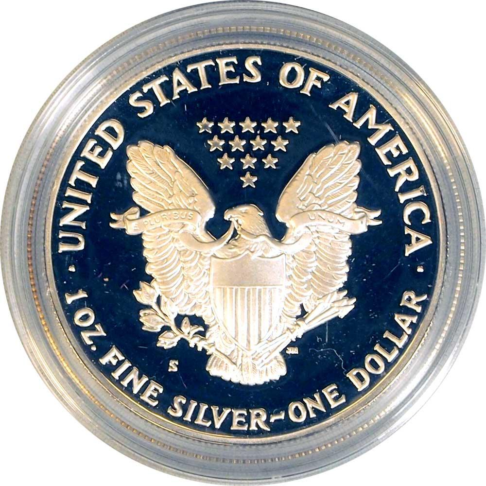 1990 Silver Eagle PROOF In Box with COA 1990-S American Silver Eagle Dollar Proof