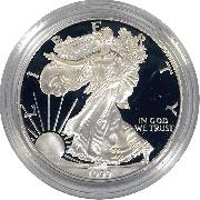 1999 Silver Eagle PROOF In Box with COA 1999-P American Silver Eagle Dollar Proof