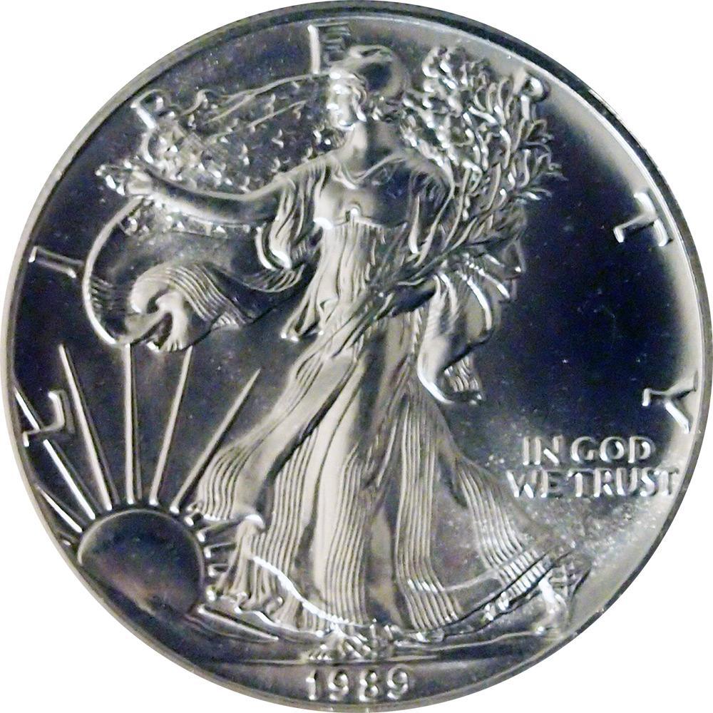 1989 American Silver Eagle Dollar Bu 1oz Silver