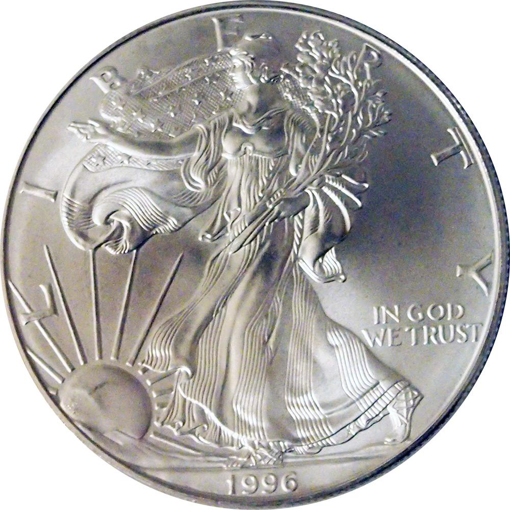 1996 American Silver Eagle Dollar BU 1oz Silver Uncirculated Coin