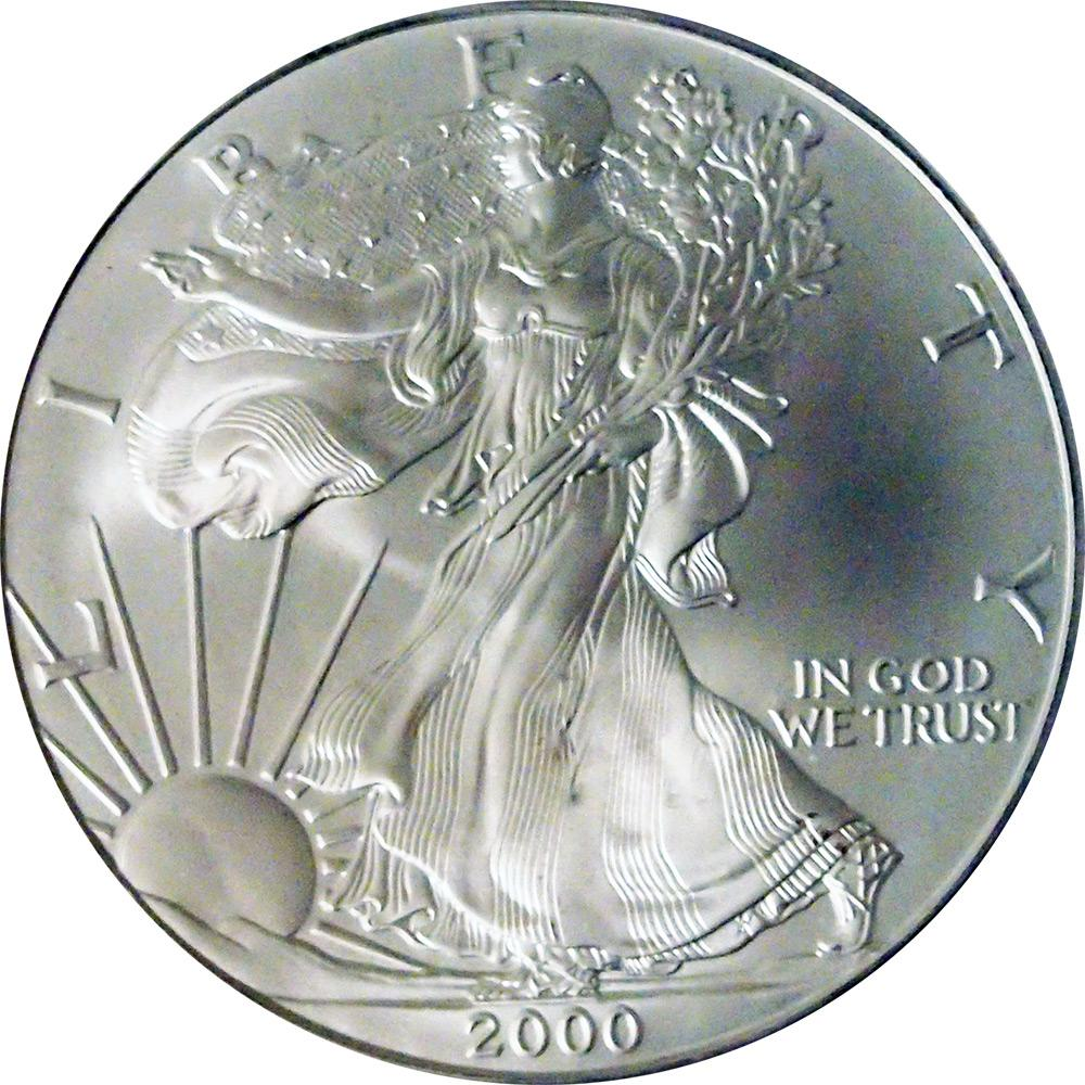 2000 American Silver Eagle Dollar BU 1oz Silver Uncirculated Coin