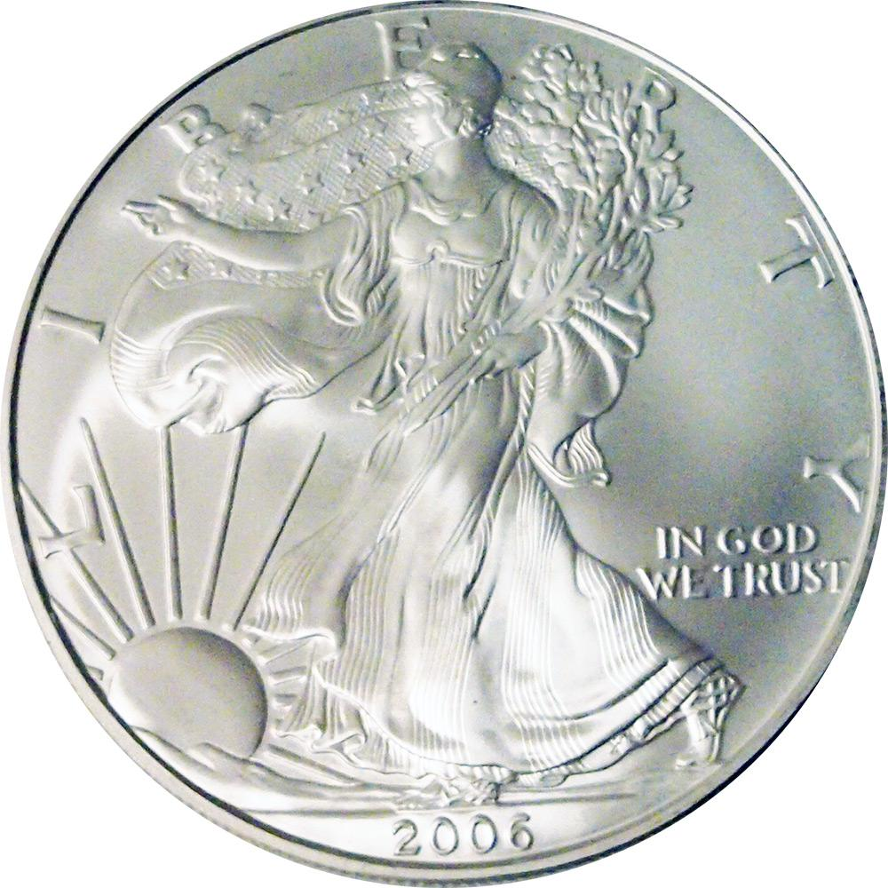 2006 American Silver Eagle Dollar BU 1oz Silver Uncirculated Coin
