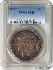 1879-CC Morgan Silver Dollar in PCGS VF 25